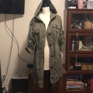 American Rag olive trench coat